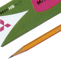 鉛筆 K9852(六角消しゴム付)の画像
