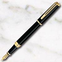ウォーターマン エクセプション・スリム ブラックラッカーGT 万年筆の画像