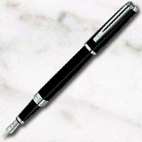 ウォーターマン エクセプション・スリム ブラックラッカーST 万年筆の画像