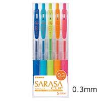 サラサクリップ0.3 ジェルボールペン 5色セットの画像