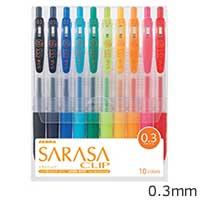 サラサクリップ0.3 ジェルボールペン 10色セットの画像