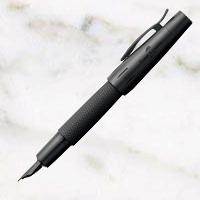 ファーバーカステル ピュアブラック 万年筆の画像