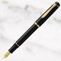 ペリカン クラシック 万年筆 黒 24金プレートスチールペン先の画像