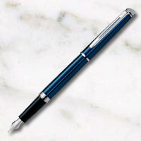 ウォーターマン メトロポリタン エッセンシャル メタリックブルー万年筆の画像